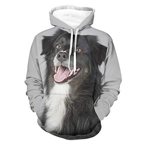 Sudaderas con capucha para hombre de pastor australiano Cool individualidad ultra suave -Pet Dog Design Sudaderas