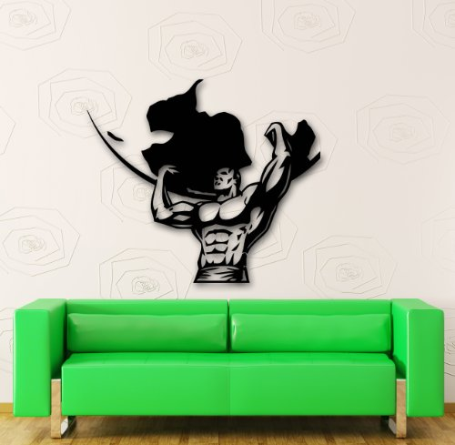 Wall Stickers Vinyl Decal Atlas Holding The Earth Bodybuilding (ig1086)