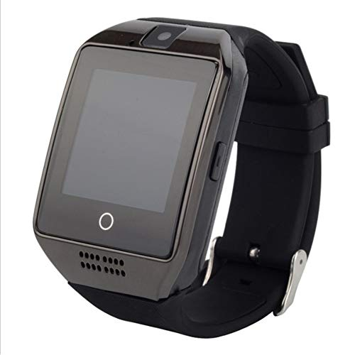 Hihey Smart Watch mit Kamera, Q18 SmartWatch Wasserdicht Sport Smart Fitness Tracker Armbanduhr mit SIM Card Slot Kamera Schrittzähler für Android Smartphones (Schwarz)