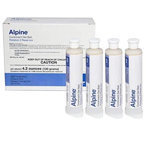 BASF - 791900 - Alpine Rotation 2 - Cockroach Gel Bait - 1 Box (4x30 Gram) Syringes