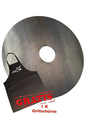 A. Weyck Tools Feuerplatte 80cm für Feuertonnen & Kugelgrills Grillplatte komplette Grillfläche BBQ