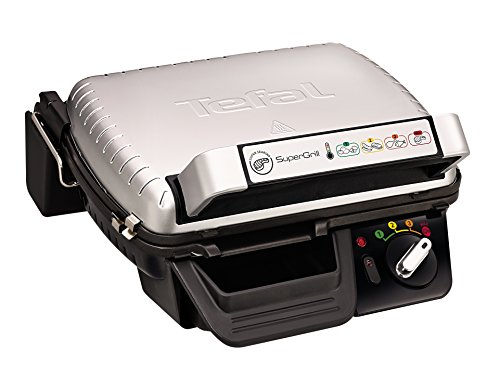 Tefal GC450B27 Super Grill 2-in-1, (6 Portions),0 4 Settings Including Searing, Stainless Steel
