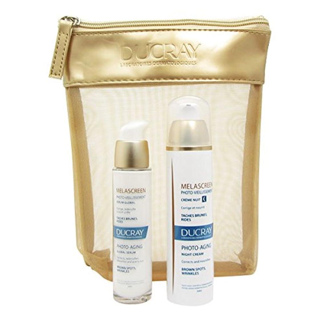 応援する歯湿ったDucray Melascreen Night Cream + Serum Bag [並行輸入品]