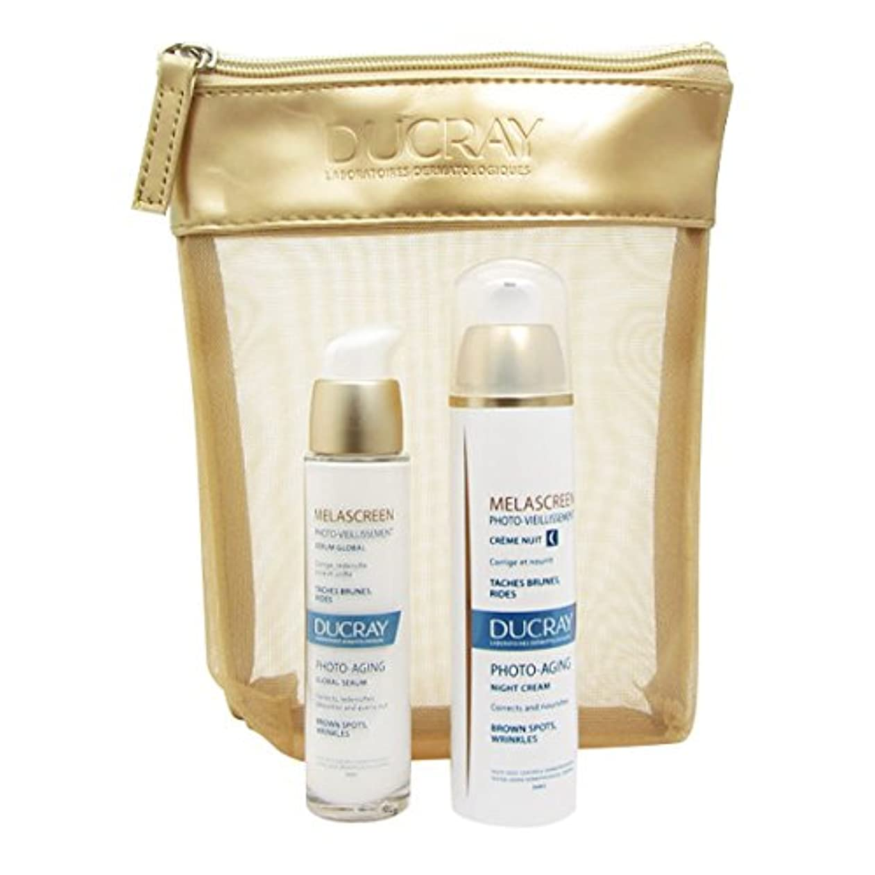臭い代数的に慣れDucray Melascreen Night Cream + Serum Bag [並行輸入品]