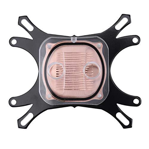 PC-Kupferbasis-CPU-Wasserblock-Wasserkühlkühler-Kühler-Zubehör für Intel AMD mit Befestigungsschrauben Für Ersatzkit (Blade Color : Other, Blade Quantity : Other)