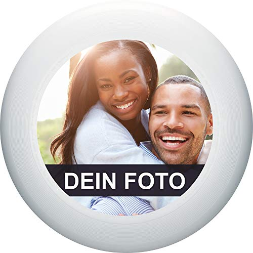 Eurodisc 175g 100% Organic Individuelle 175g Ultimate Frisbee selbst Bedrucken, personalisierte Frisbee, nachhaltig (Weiss)