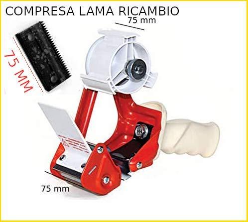 Tendinastro professionale in ferro con frizione regolabile per nastro da 75 mm CON LAMA RICAMBIO