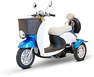 3 Wheel Electric Scooter | EW 11 Euro Mobility Scooter for Adults | Recreational E Scooter (Blue)