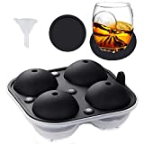Ice Ball Mold-Whiskey Ice Ball Maker,Food Grade and BPA Free,Makes 2.5 Inch Ice Balls (Black)
