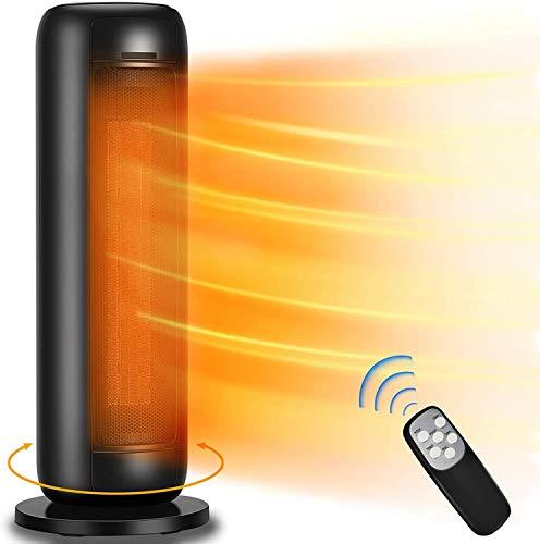 Heizlüfter Keramik Heizgerät – 2000W Heizung für Badezimmer Bad Büro Wohnzimmer, 6 Modi heizlüfter energiesparend mit 80° Oszillierendem Thermostat, Fernbedienung, ECO-Modus, 0-9H Timer
