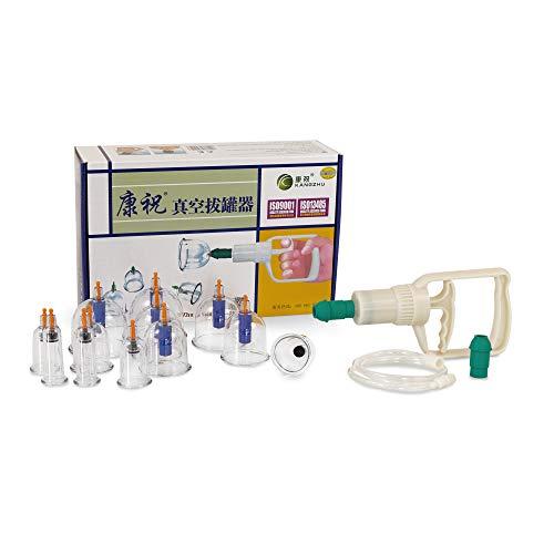 AFH-Webshop 450406schroepfen kangzhu Set in plastica con pompa a vuoto, 12pezzi