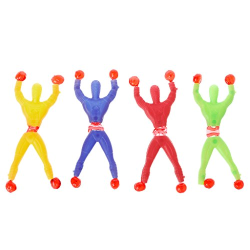 Lamdoo Sticky Elastic Spider Man Spaß Stretchy Kinder Spielzeug Wand Klettern Super Hero Abbildung Zufällige Farbe