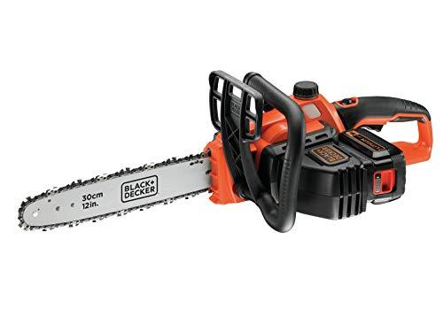 Black+Decker Li Ion Akku Kettensäge 36V GKC3630L20 mit Akku und Ladegerät – Ideal für Holz- & Gartenarbeiten – 30 cm Schwertlänge