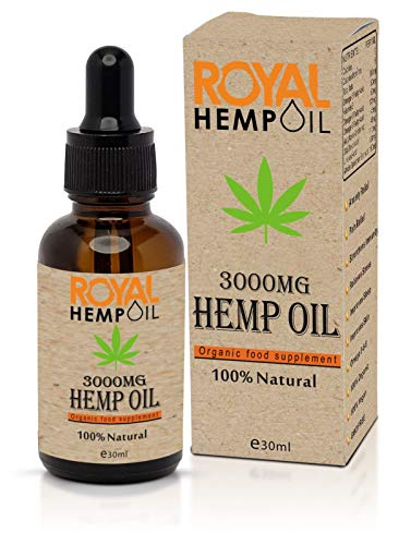 Organic Royal Hemp oil 3000MG 30ml Improves Sleep and Helps to Relax | Strengthens Immunity | Omega 3-6-9 | GMO Free 100% Vegan | Peppermint Flavor