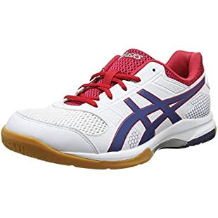 Asics Men's Gel-Rocket 8 Multisport Indoor Shoes, White (White/Deep Ocean 100), 10 UK (45 EU)