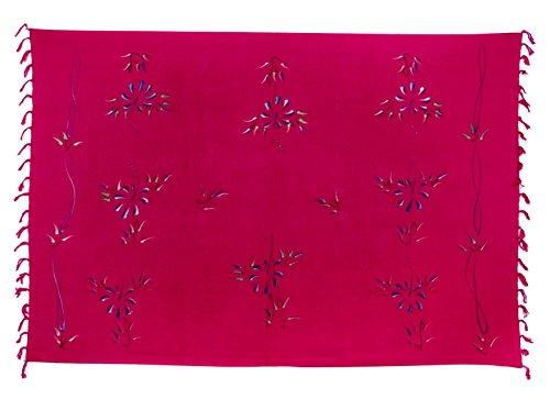 Ciffre Sarong Pareo Wickelrock Lunghi Tuch Strandtuch Hüfttuch Blume Pink Wickeltuch