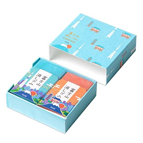 プラス 消しゴム 富士山消しゴム TOKYO そら ER-100AIF-2P 36-089