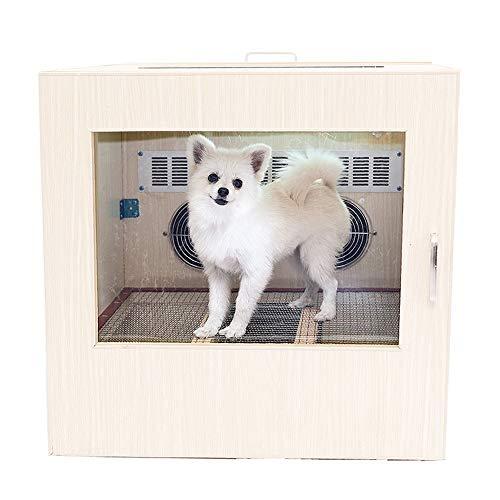 XFSE Cama para perros para mascotas Automático Inteligente Eléctrico Doble Circulación Horno de Secado Bajo Ruido Secador de Gatos Baño 60 * 60 * 60 cm (Color: Blanco)