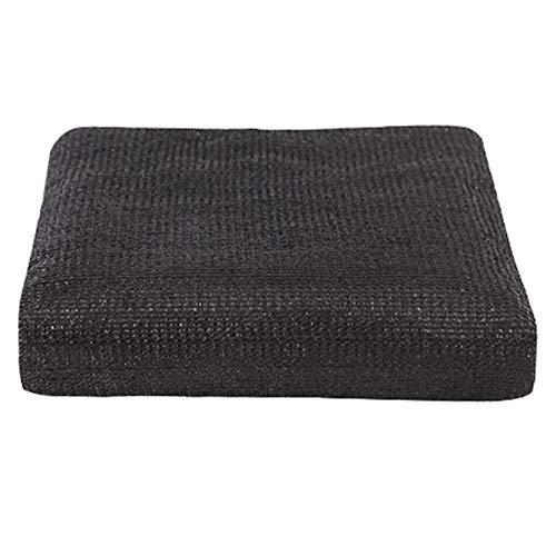 Filet d'ombrage Petit pain résistant noir de tissu d'ombre, tissu d'ombre de Sunblock de 50%, couverture de maille résistante aux UV pour la pergola/poulailler/grange/chenil/piscine