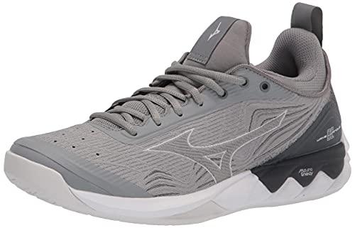 Mizuno Women's Wave Luminous 2 Volleyball Shoe, Grey, 8