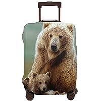 スーツケースカバー かわいい クマ 熊 キャリーカバー ラゲッジカバー 伸縮素材 キズから保護 防塵カバー通気性 お荷物カバー 傷防止 汚れ防止 カバー おしゃれ 旅行 海外 キャリーバッグ カバー キズから保護 便利 ジッパー 出張 旅行