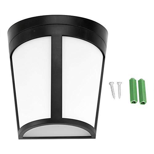 Aufee Solar-Gartenlampe, solarbetriebene Wandhalterung 6 LED-Licht im Freien Gartenweg Landschaft Zaun Hof Lampe LED Blinker Outdoor Gartenlampe(Reines Weiß)