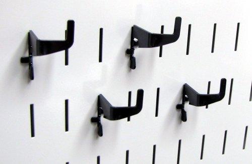 Wall Control Pegboard Medium 90 Degree Slotted Hook Pack - Slotted Metal Pegboard Hooks for Wall Control Pegboard and Slotted Tool Board – Black