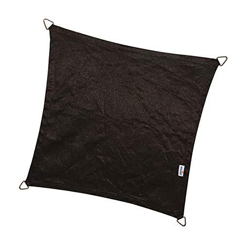 nesling Coolfit Voile D'ombrage (Carré 3,6m x 3,6m x 3,6m x 3,6m, Noir) Protection Solaire, Eau et Vent perméable, Protection UV