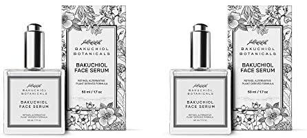 Bakuchiol Facial Serum Oil 1 7 oz 2 PACK Retinol Alternative Clinical Strength Bakuchiol 100 product image