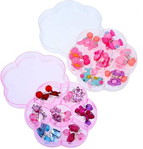 TOYMYTOY 14 paia di orecchini per bambine e ragazze, set regalo di compleanno per bambini