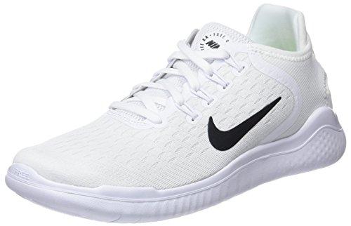 Nike Women's Free RN 2018 Running Shoe White/Black 6 M US