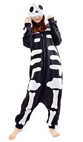 Unisex Animal Pijama Ropa de Dormir Cosplay Kigurumi Onesie Esqueleto Disfraz para Adulto Entre 1,40 y 1,87 m