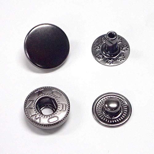 バネホック 大 No.5 13mm (黒ニッケル, 30セット)