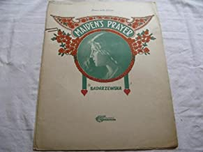 MAIDENS PRAYER BADARZEWSKA 1910 TORE SHEET MUSIC FOLDER 353 SHEET MUSIC