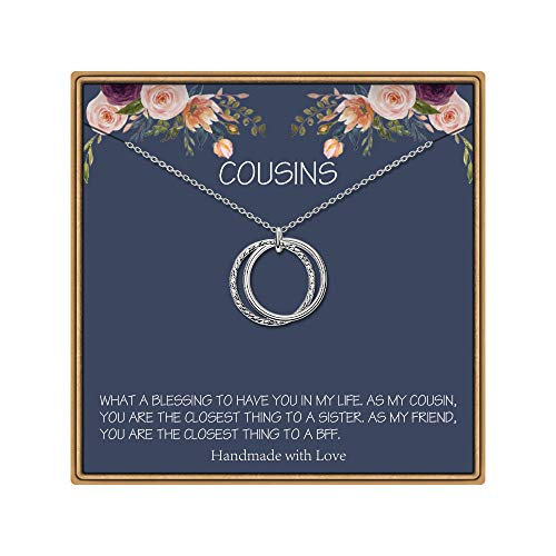 Cousin Gifts, Simple Circles Necklace Cousin Gifts for Women Cousin Birthday Gifts Cousin Necklaces Best Cousin Gifts