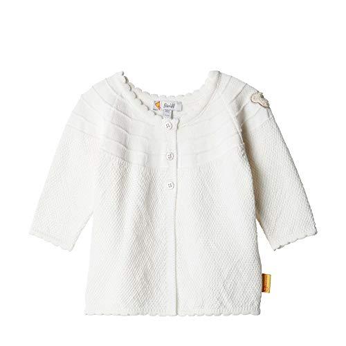 Steiff Cardigan Gilet, Blanc (Cloud Dancer 1001), 95 (Taille Fabricant: 80) Bébé Fille