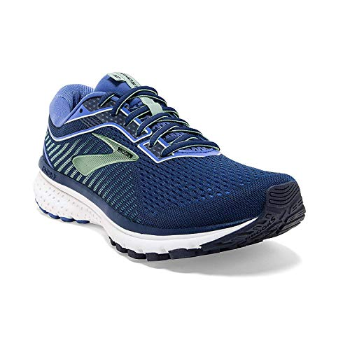 Brooks Womens Ghost 12 Running Shoe - Peacoat/Blue/Aqua - B - 8.5