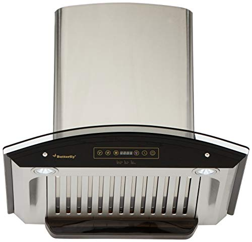 Butterfly 60cm 1200 m3/hr Chimney (Superb Plus, 2 Baffle Filters, Touch Control, Steel/Grey)