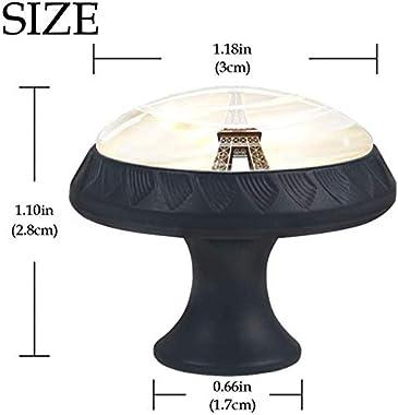 "4 Pack Round Cabinet Hardware Knob Eiffel Tower in Paris - 1-37/100"" Diameter - knobs for Dresser Drawers"