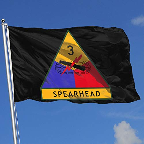 ZBGIGB 3rd Armored Division 3x5 Foot Flags Outdoor Flags 100% Single-Layer Translucent Polyester 3x5 Ft