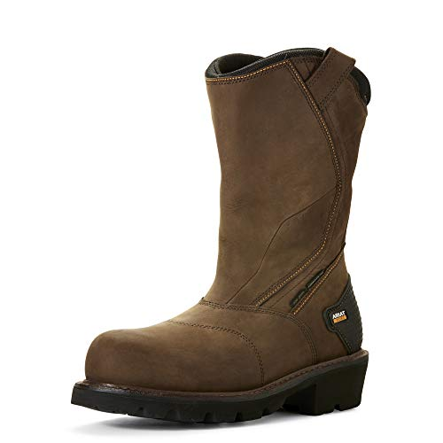 ARIAT Men's Powerline 400G Waterproof 400G Composite Toe Work Boot Brown