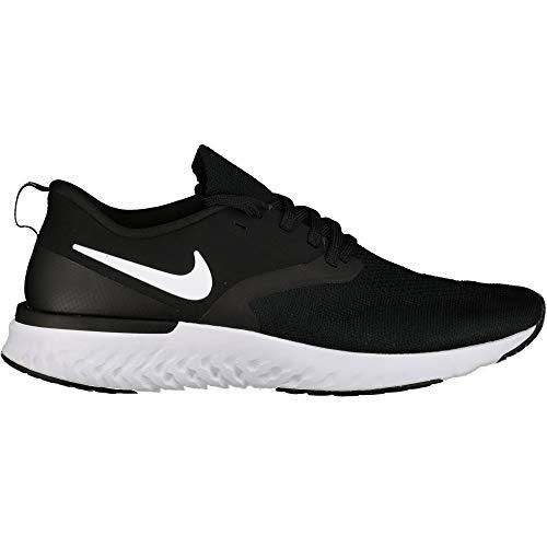 Nike Odyssey React 2 Flyknit Laufschuhe Herren Black/White, Schuhgröße:46