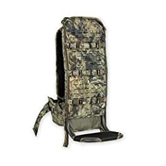 Intex ll aluminum frame. - Zippered attachment points compatible with our duffels, drybags, and more. - Full MOLLE webbing matrix covers main panel to attach scabbards, pouches, etc. Three built in horizontal compression straps for securing your gear...