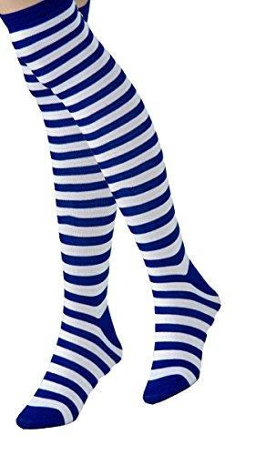Panelize Ringelstrümpfe rot/Weiss blau/Weiss auch blau/rot/Weiss gemischt (blau/Weiss)