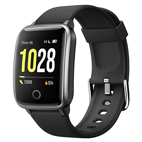 Willful Smartwatch Donna Uomo Orologio Fitness per Android iOS Contapassi e Calorie Cardiofrequenzimetro da polso Impermeabile IP68, Notifiche Messaggi, Cronometro, GPS Condiviso, 11 Modalità Sportive