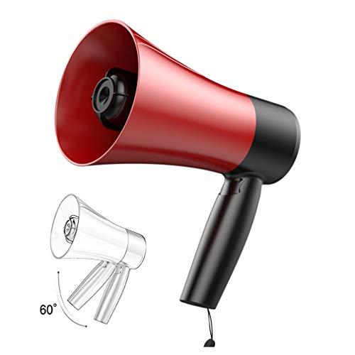 HWUKONG Bluetooth Bullhorn Megafono - 600 Metri di Penetrazione Megafono Altoparlante Sirena Modo di Suoneria, Lettori MP3 / USB/SD Altoparlante Ricaricabile