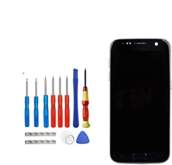 E-YIIVIIL Super AMOLED Compatible with Samsung Galaxy S7 SM G930 G930V LCD Touch Screen Display with Toolkit with Frame  Black