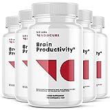(5 Pack) Noocube Brain Productivity Supplement Pills (300 Capsules)