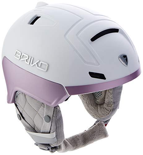 Briko Ambra Damen Skihelm, Damen, 20012T0, Weiß Metall Pink, 56-58