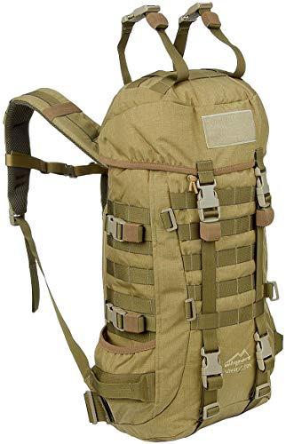 Wisport Trekkingrucksack 40 Liter für Damen Herren+ inkl. E-Book | kompakter Wanderrucksack | Backpacking Rucksack Traveller | Backpack groß Hiking | Silverfox 2 Coyote Brown